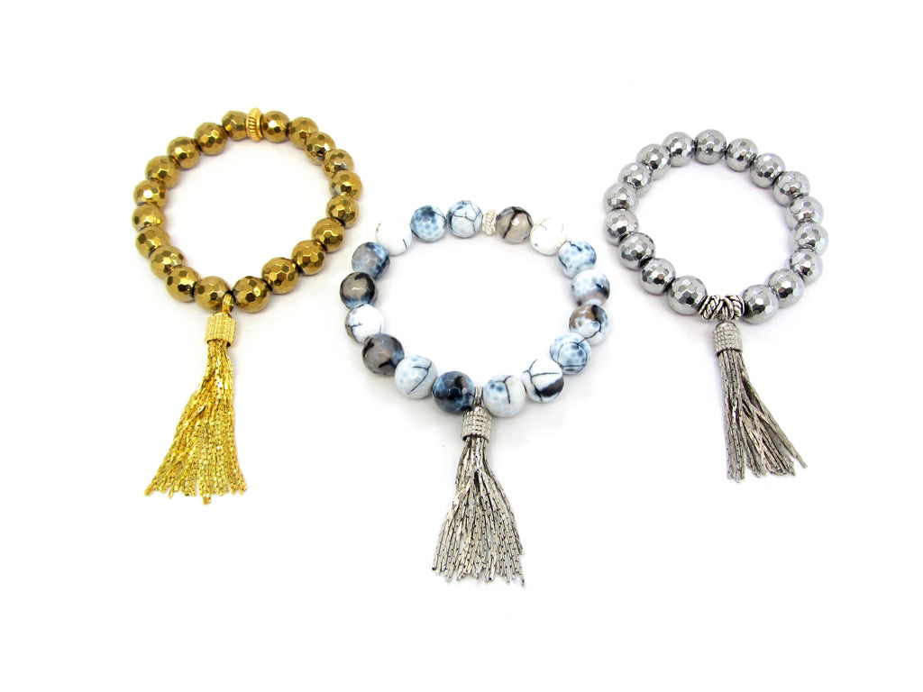Silver or Gold-Plated Fringe Tassel