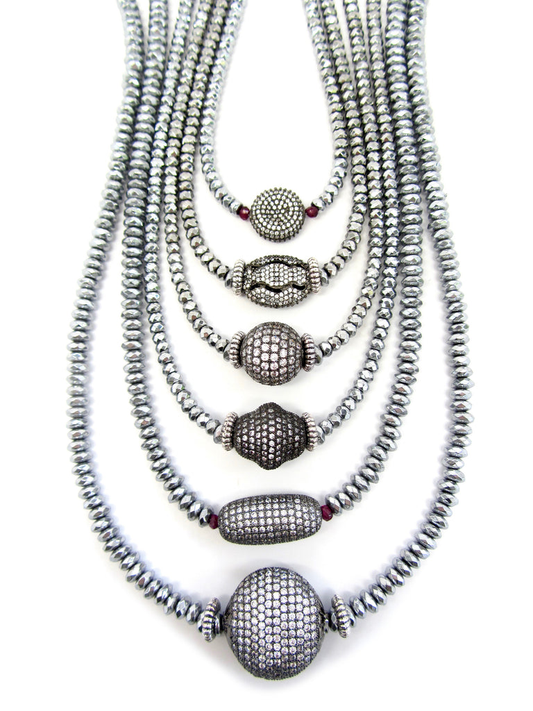 Pave Silver Hematite Collection