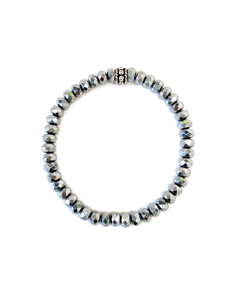 Single Hematite or Pyrite Plain Bracelets