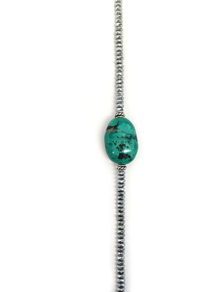 Turquoise Stone & Silver Hematite Collection
