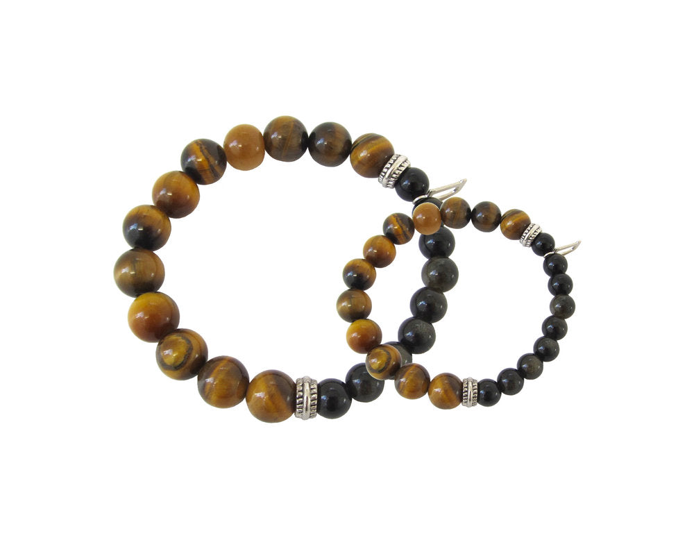 mens tiger eye bracelet beaded