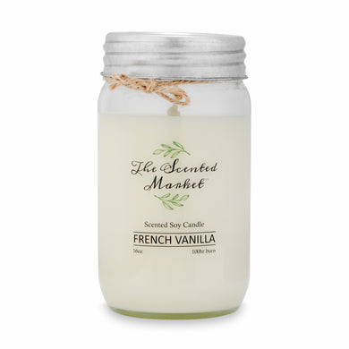 FRENCH VANILLA Soy Wax Candle 16 oz