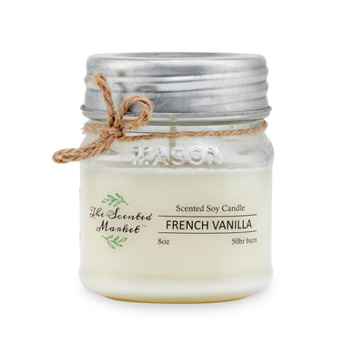 FRENCH VANILLA Soy Wax Candle 8 oz