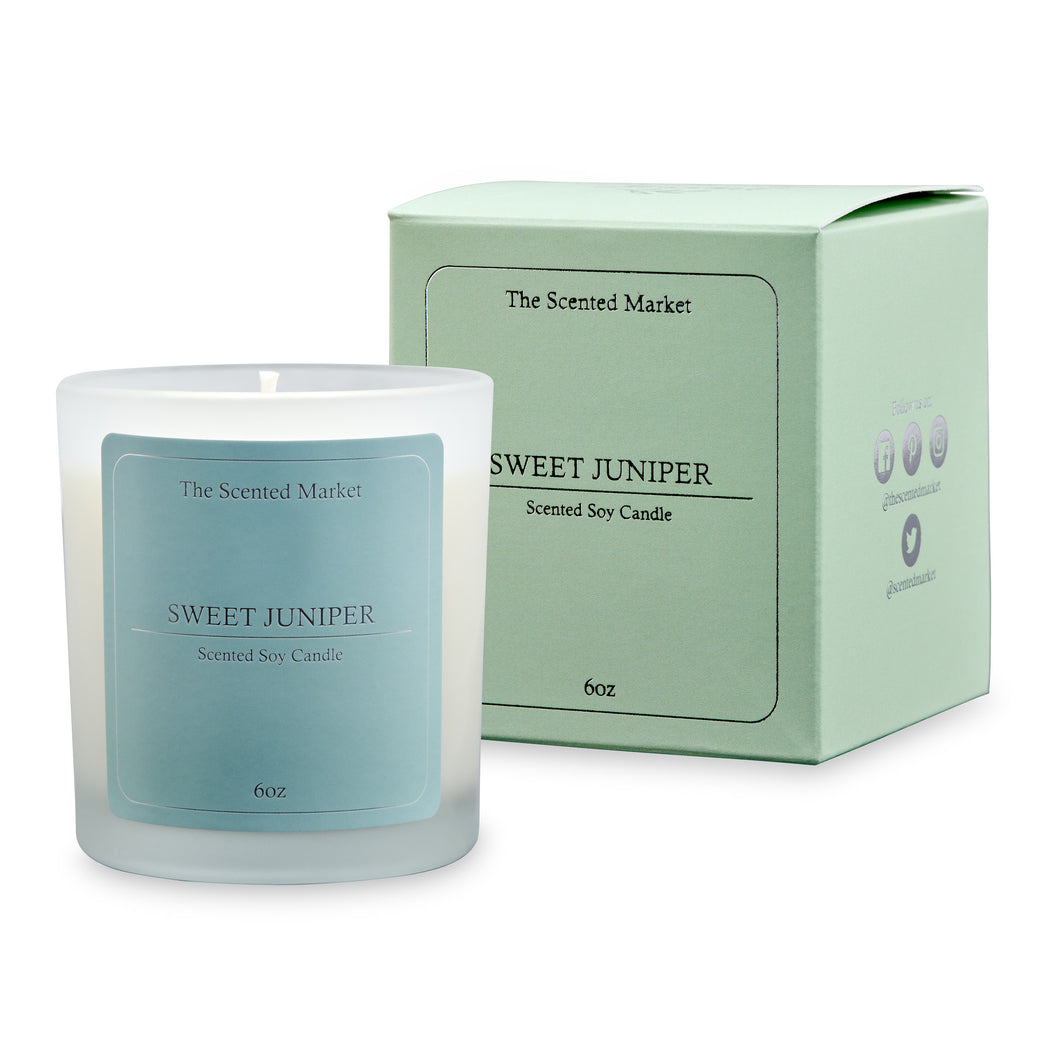 SWEET JUNIPER Soy Wax Candle 6 oz