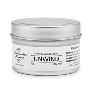 UNWIND Scented Massage Candle 4 oz