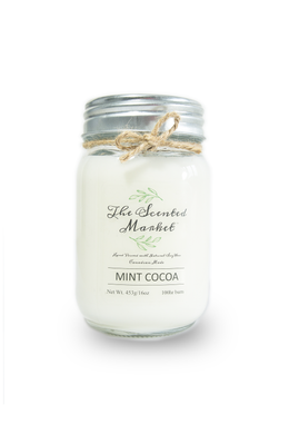 MINT COCOA Soy Wax Candle 16 oz