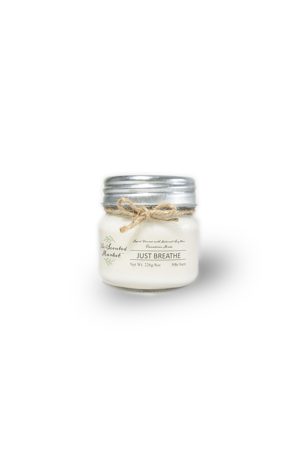 JUST BREATHE  SOY WAX CANDLE 8oz