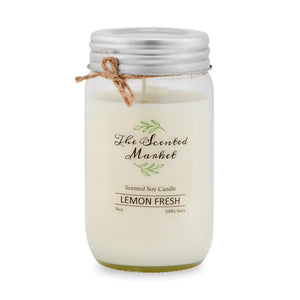 LEMON FRESH Soy Wax Candle 16 oz
