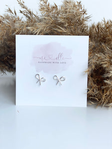 Earrings - Silver BOW