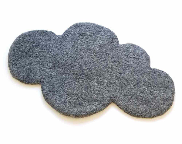 Cloud Nine Felt Rug | Charcoal Grey