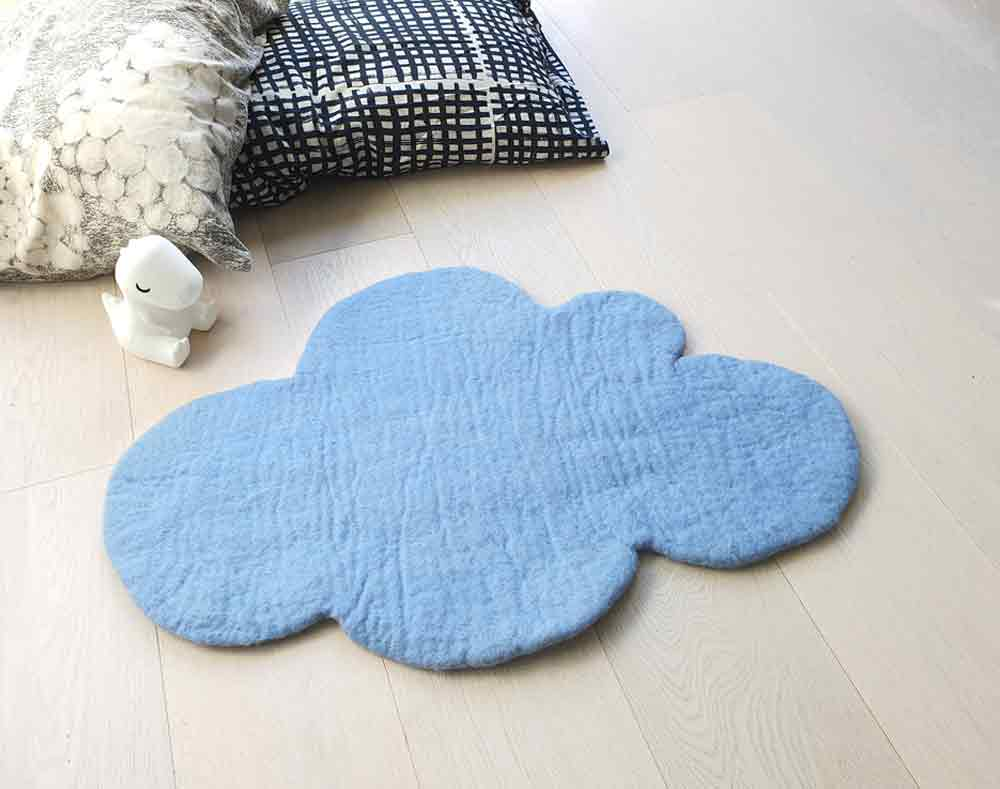 Cloud Nine Felt Rug | Soft Blue