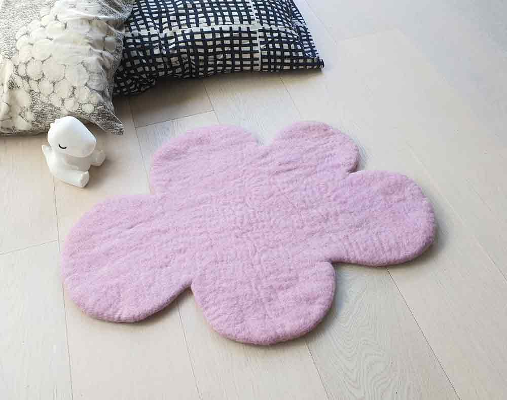 Cloud Nine Felt Rug | Scandi Pale Pink