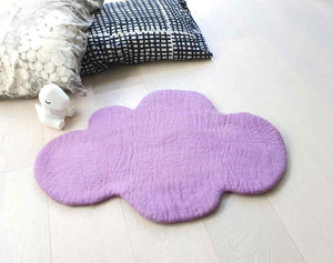 Cloud Rug, Purple, nursery kids rug