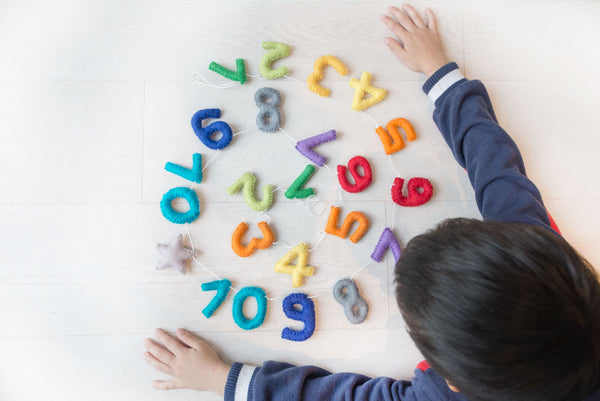 Numbers Garland 1 to 10 l Rainbow