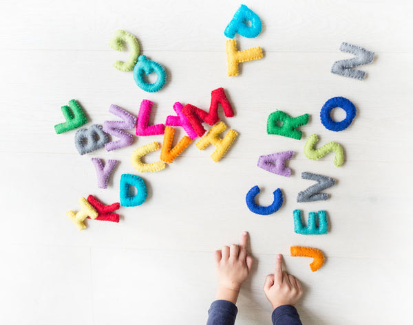 ABC Toy. Alphabet Toy. Educational. A to Z. Felt letters. Learn Spellings. Home learning
