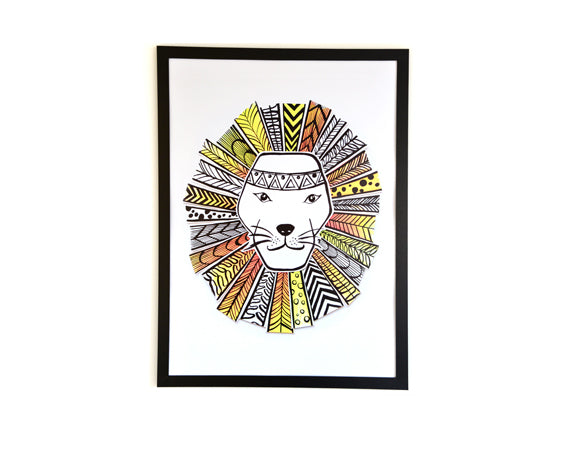 Art Print l Mr. Lion