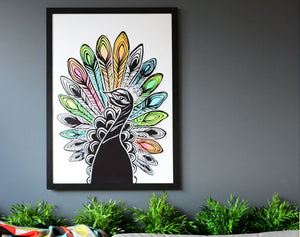 Art Print l Ms. Peacock