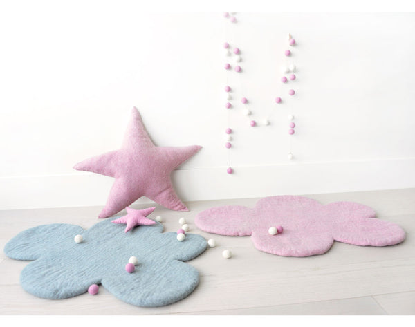 Cloud Nine Felt Rug | Soft Pink