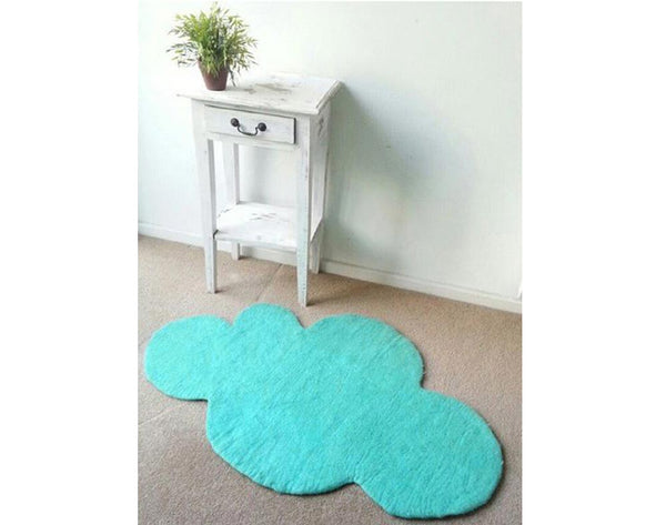 Cloud Nine Felt Rug | Mint Blue