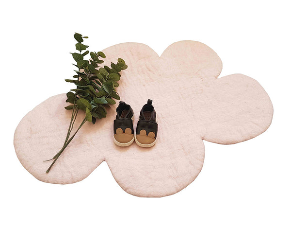 Cloud Nine Felt Rug | White Pink