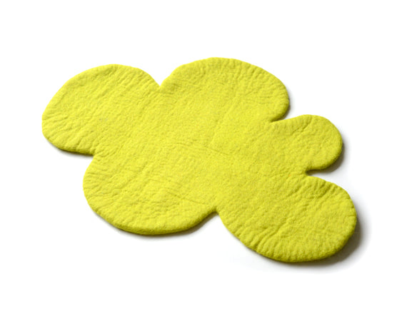Cloud Nine Felt Rug | Yellow