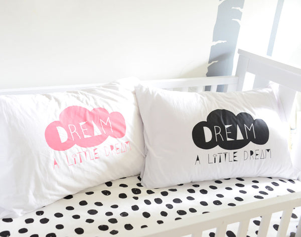 Pillowcase l Dream a Little Dream l Black