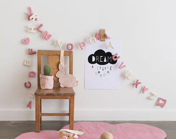Alphabet Garland ABC l Pink