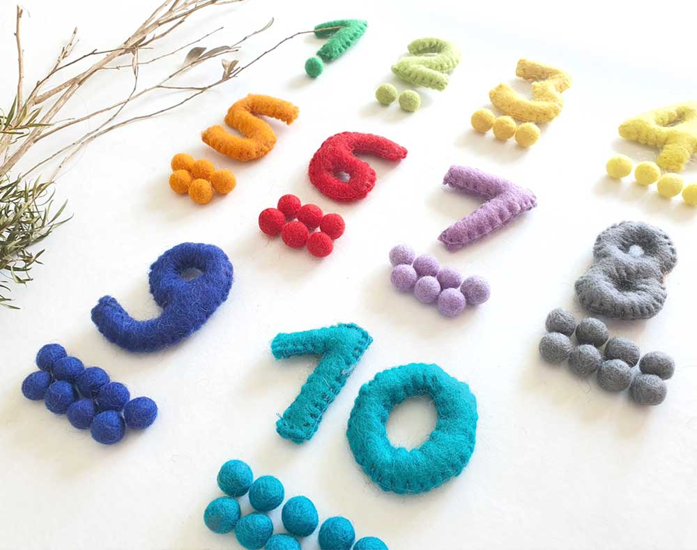 Numbers Toy. Counting. 1 to 10 Learn to Count Math Games. Felt. Montessori Sensory Play. Learn Colours. Educational