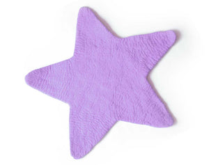 Star Felt Rug | Purple