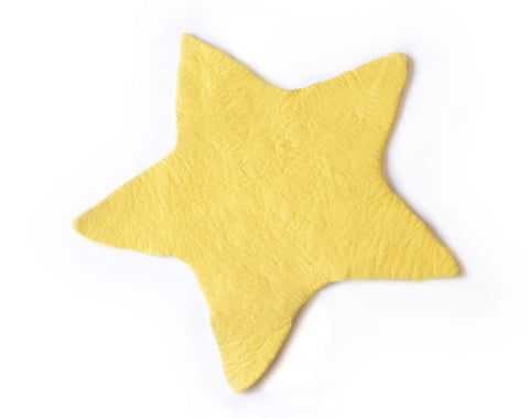 Star Felt Rug | Yellow