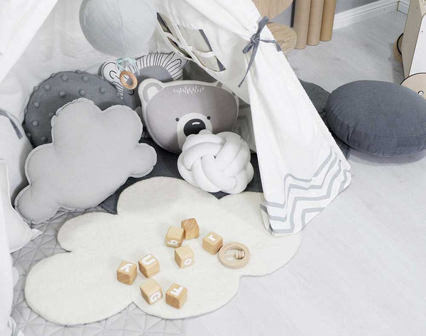 Cloud Nine Felt Rug | White