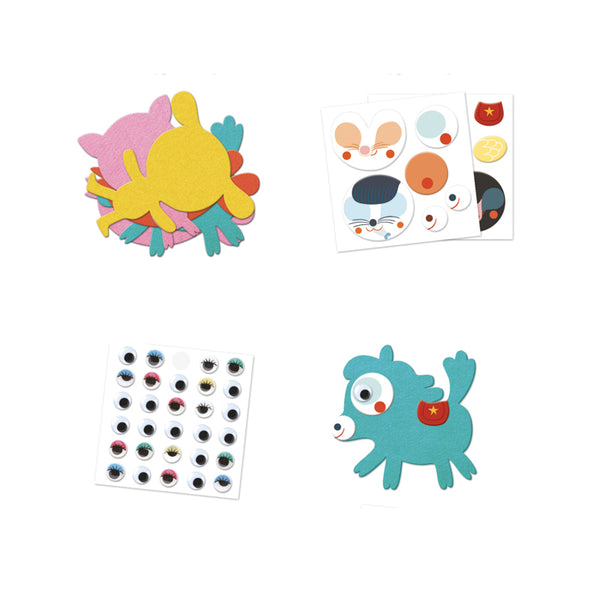 Djeco I Love Animal Stickers_Kids DIY Art Craft Kits DIY Educational Toy