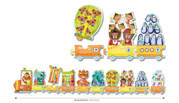 Djeco Duo I Count Puzzle_Train Numbers Counting Toy