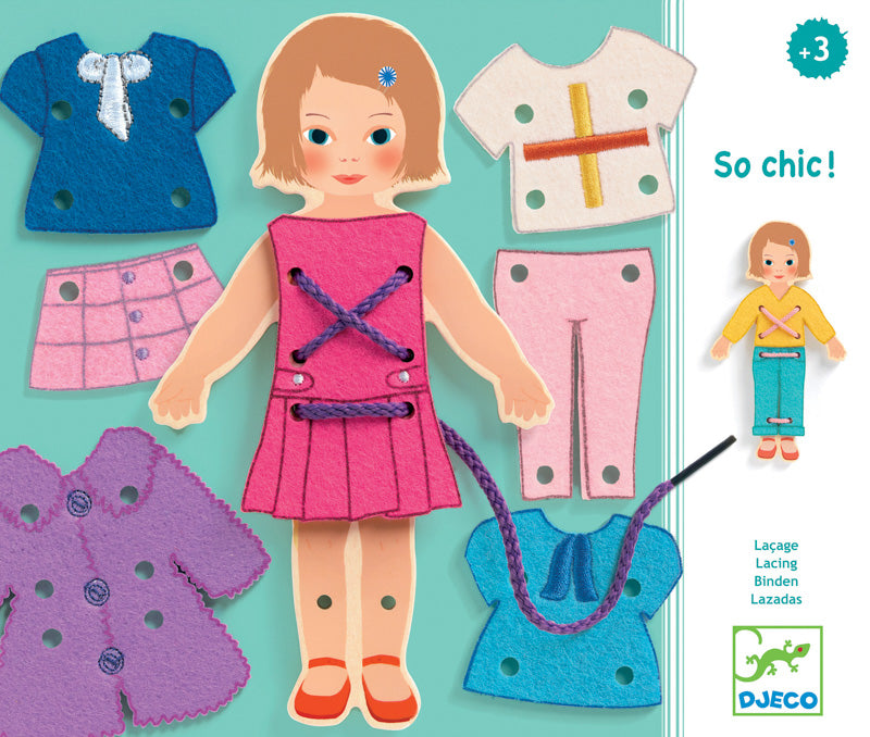 Djeco So Chic Lacing_Educational_Dress Up Toy