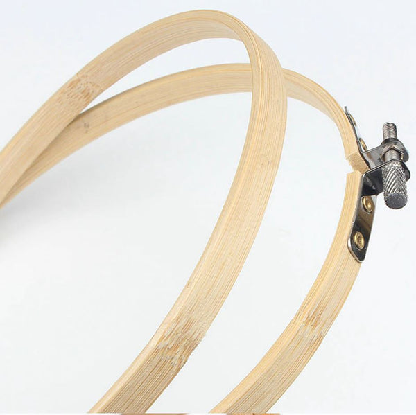 10cm Embroidery Hoop Bamboo Wooden kit, 4 Inch Cross Stitch DIY, Wood Ring Frame Fabric Sewing supplies