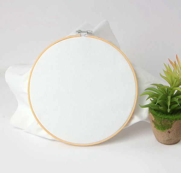 15cm Embroidery Hoop Bamboo Wooden kit, 6 Inch Cross Stitch DIY, Wood Ring Frame Fabric Sewing supplies
