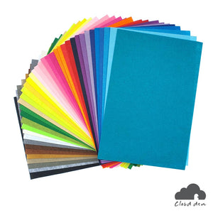 Felt Fabric A4 1mm x40, DIY Kids Craft Paper Supplies 20x30cm Assorted Multi Colours Set