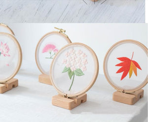 Embroidery Hoop Stand Display Base Holder, Cross stitch, Wooden Sewing Frame Kit