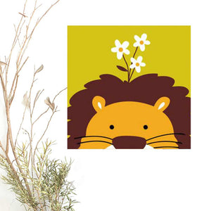 Paint By Numbers for Kids, LION Animal, DIY Paint Kit for beginner, Kids Room Decor Art Craft Supplies