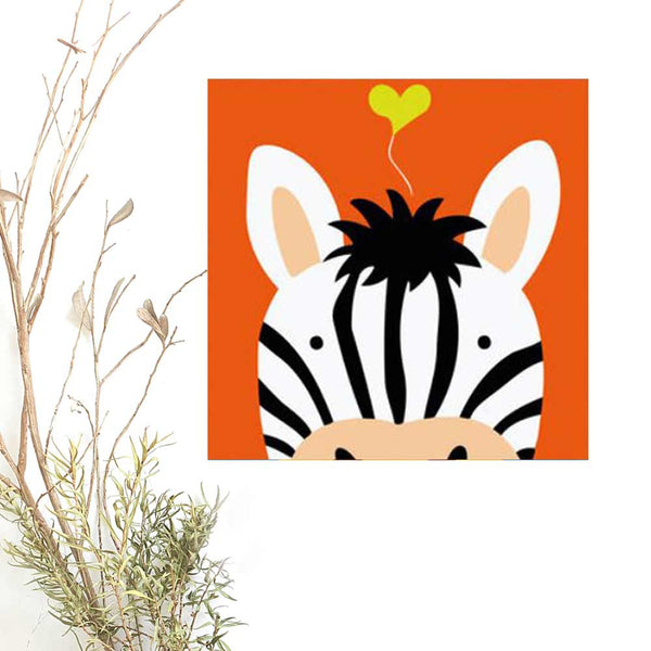 Paint By Numbers for Kids, ZEBRA Animal, DIY Paint Kit for beginner, Kids Room Decor Art Craft Supplies