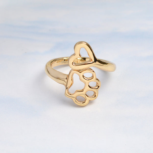 Paw and Heart Ring