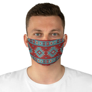 Ethnic Colorful Pattern Printed Fabric Face Mask Aztec Tribal