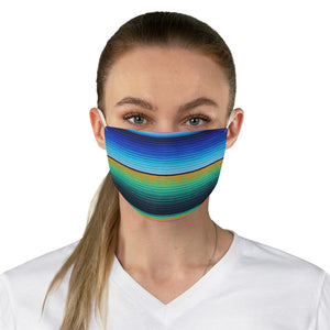 Mexican Serape Style Colorful Stripe Pattern Printed Fabric Fashion Face Mask