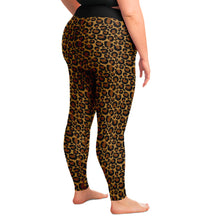 Load image into Gallery viewer, Leopard Print Leggings Plus Size 2X - 6X Squat Proof