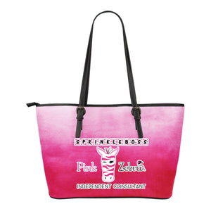 Sprinkle Boss Pink Zebra Independent Consultant Tote Bag Pink Ombre