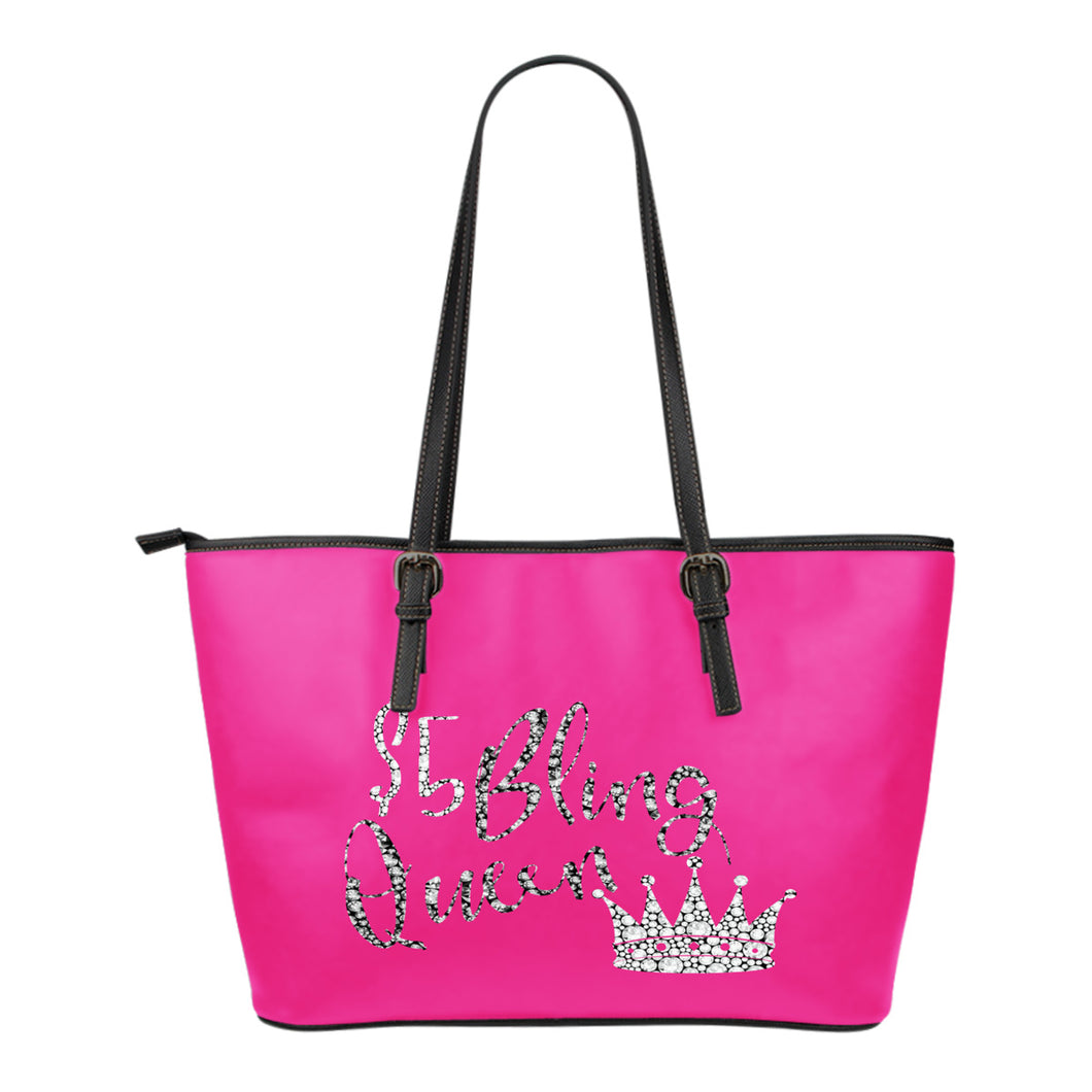 Bling Queen Pink Diamond Tote Bag