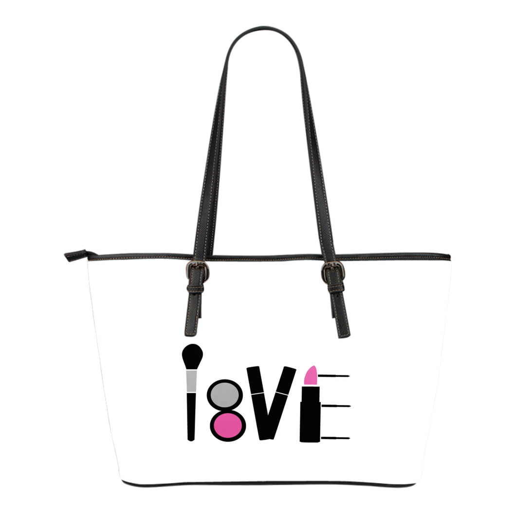 LOVE Makeup White Tote Bag