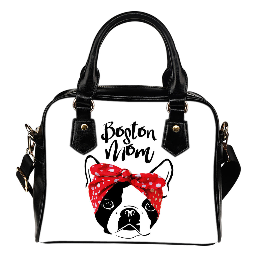Boston Mom Boston Terrier Two Tone Purse Handbag