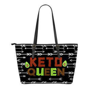 Keto Queen Tote Bag Vegan Leather With Zipper