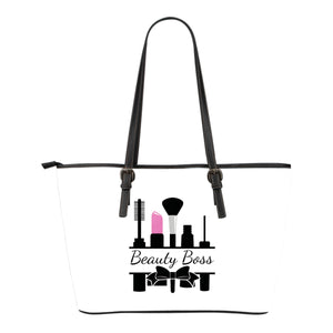 White Beauty Boss Bow Tote Bags